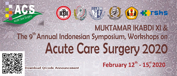 MUKTAMAR IKABDI XI & The 9 Annual Indonesian Symposium, Workshops on Acute Care Surgery 2020